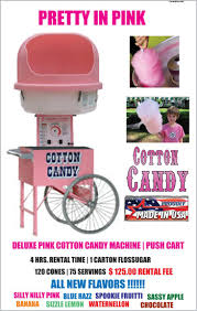 cotton candy machine rentals carnival food party rentals track