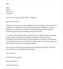 free letters templates 15 letter of employment templates u2013 free sample example format