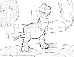 toy story rex coloring pages eson