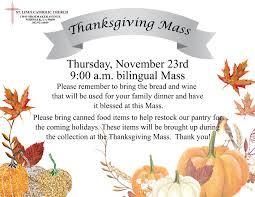 thanksgiving mass st linus catholic church norwalk ca st