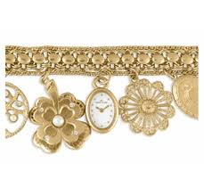 anne klein charm bracelet watches images Anne klein gold antique style charm bracelet watch gif