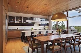 house modern home designs with open plan dining room ideas