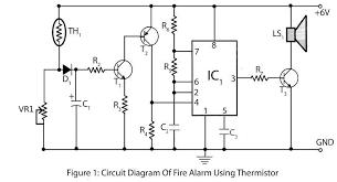 fire alarm using thermistor u2013 electronics project
