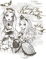 beautiful princess of ever after high printable coloring sheets