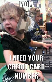 Credit Card Meme - kid on computer needs your credit card number funny pictures dump