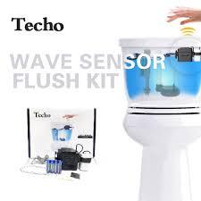 best touchless motion sensor powered techo touchless toilet flush kit wave automatic motion sensor