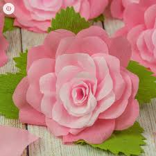 crepe paper flowers crepe paper roses and a free printable template country hill cottage