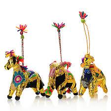 sudha pennathur set of 3 4 handmade folk ornaments w pouch