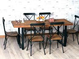 wood and wrought iron table iron and wood dining tables selected furniture wrought iron and wood