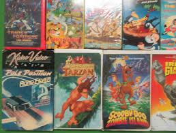 80 u0027s cartoon shows movies 29 vhs lot transformers tarzan scooby