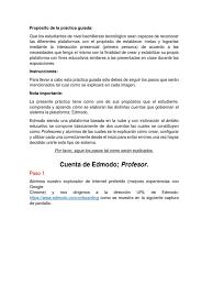 tutorial edmodo profesor propósito de la práctica guiada edmodo
