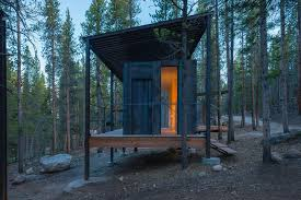 located on a steep hillside in a lodgepole pine forest these