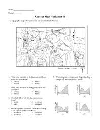 topographic map worksheets free worksheets library download and