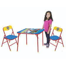 Childs Patio Set by Nickelodeon Paw Patrol 3 Piece Table And Chair Set Walmart Com