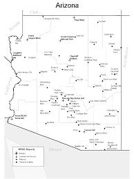 Bisbee Arizona Map by Arizona Airports Map Arizona U2022 Mappery