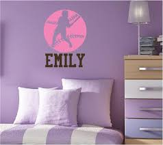 stylish softball wall decals inspiration home designs