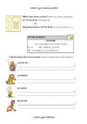 english teaching worksheets telephone numbers