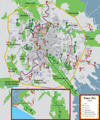 Vatican City Map Map Of Rome Bike Paths Bike Routes Bike Stations