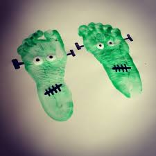 frankenstein feet toddler halloween craft kids pinterest