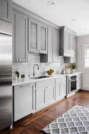 grey kitchen cabinets with white countertop 20 gray kitchen cabinets we re loving hgtv