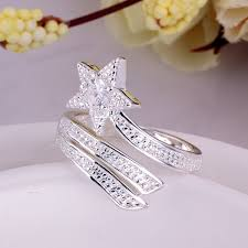 beautiful rings design images Lj omr beautiful crystal silver rings with stones star fashion jpg