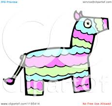 cartoon of a mexican pinata royalty free vector illustration by