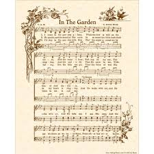 Christian Home Decorations In The Garden Hymn Art Christian Home Decor Vintageverses