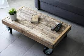 reclaimed wood coffee table with wheels the most coffee table casters for designs best timbergirl reclaimed