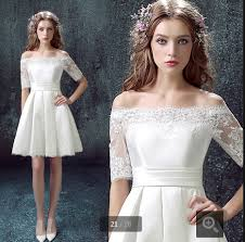 wedding dress brokat 2015 stunning wedding dresses the shoulder half sleeve