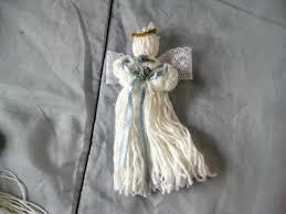 christmas yarn angel christmas crafts pinterest christmas