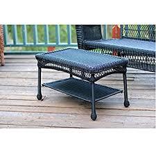 amazon com jeco w00207 t black wicker patio furniture coffee