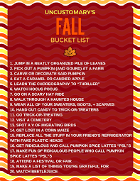 fall bucket list 100 things to do in fall uncustomary