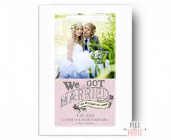 marriage announcement printable we got married card we got