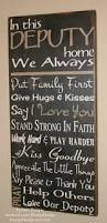 family wood sign home decor law enforcement sign deputy sign sheriff sign police officer