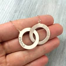 ring name necklace images Silver name and date necklace two circle name necklace jpg