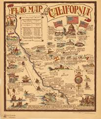 Los Angeles Map Poster by Pore Over This 1936 Map Of California U0027s Many Flags Los Angeles