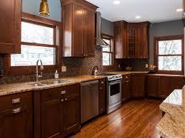 Kitchen Remodel Dark Cabinets Kitchen Contemporary L Shape Kitchen Decoration Using Grey