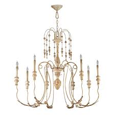 Cyan Design Chandelier Cyan Design 04638 Maison 8 Light Chandelier In White
