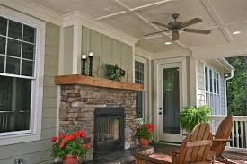 e s johnson builders stevenson farmhouse rear covered porch with