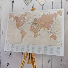 World Map Antique by Antique World Map Wedding Table Plan By Maps International