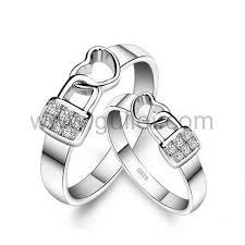 wedding bands for him lock heart custom engravable wedding bands for him and
