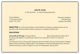 best objectives to write in a resume resume format