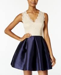 city studios juniors u0027 glitter lace fit u0026 flare dress dresses