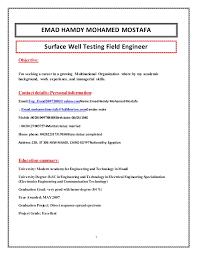 Sample Resume Personal Information by Halliburton Field Engineer Sample Resume Uxhandy Com