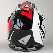 ufo motocross gear ufo onyx nos helmet black white red quick dispatch 24mx