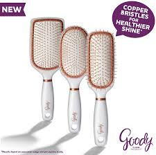 goody hair products new goody clean radiance brushes equipped with copper bristles for