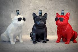 made us look a wireless speaker that looks like a french bulldog