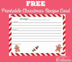free printable recipe pages free printable christmas recipe card