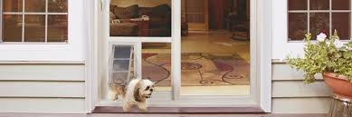 Patio Door With Pet Door Built In Custom Pet Doors Custom Cat Doors For Patio Slider