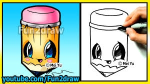 back to cutie how to draw easy things pencil cartoon